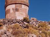 Фото из тура в Перу в 2004 году. Руины погребальных сооружений Силлустани недалеко от Пуно и озера Титикака.