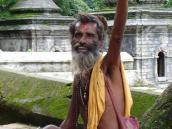 Фото из тура Непал-Тибет в 2004 году. Благословление непальского йога.