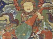 Фото из тура на Тибет в 2008 году. Миларепа. Настенная роспись в монастыре Сера, Лхаса.