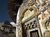 Фото из тура на Тибет в 2008 году. Ступа Кхумбум в Гьянтзе  украшена богатой резьбой.