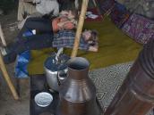 Фото из тура в Турцию в 2012 году. Полуденный отдых под навесом у курдов. Здесь нас подчевали свежим айраном и овечьим сыром. Самая натуральная еда, ни у кого не было ни малейшего расстройства.