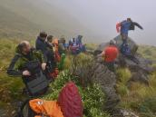 Фото из тура в ЮАР в 2013 году.  От постоянного напряга на спуске все взмокли и на небольшом выполаживании остановились, чтобы приподраздеться.