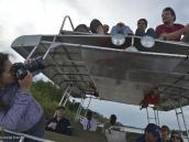 Фото из тура в ЮАР в 2013 году. Наша фракция переместилась на крышу, чтобы сильнее лодку раскачивать.