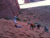 Фото из тура в США в мае-июне 2010 года. Поющие пески в Долине Монументов, треккинг. На границе штатов Аризона и Юта.