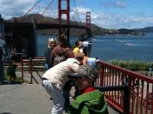 Фото из тура в США в мае-июне 2010 года. Рядом с Голден Гэйт, Сан-Франциско.