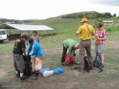 Фото из тура в Венесуэлу в феврале-марте 2012. Подготовка к треку в поселке Парайтепуй.