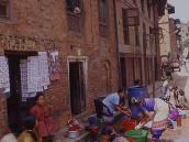 На улицах Бхактапура  оживает история