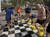 Игра в мега-шашки, тимбилдинг в Дубаи.
