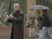 Флейтист по имени Рим у Храма на Крови. СПб за 24 часа.