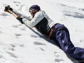 Ледово-скальные занятия на высоте 4800 м. Восхождение на Эльбрус с Севера. Автор Алексей Чуркин (с)