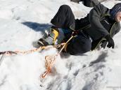 Ледово-скальные занятия на высоте 4800м. Восхождение на Эльбрус с Севера. Автор Алексей Чуркин (с)