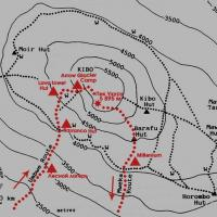 Карта маршрута восхождения на Килиманджаро