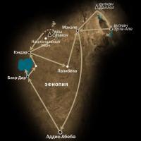 Схема тура по Северной Эфиопии