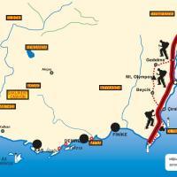Схема маршрута по Ликийской Тропе