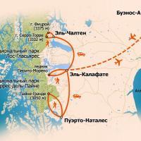 карта тура, карта Патагонии, карта Аргентины, карта Чили, тур в Чили, тур в Аргентину, тур в Патагонию, треккинг в Андах, Фицрой, Торрес-дель-Пайне, по следам Дарвина, путешествие в Патагонию, трекинг в Патагонии, треккинг в Патагонии