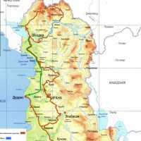 Схема маршрута по Албании