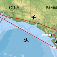 Карта-схема маршрута круиза по Аляске