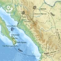 Карта маршрута по Медному Каньону и Нижней Калифорнии