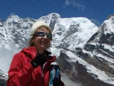 Восхождение на Мера, панорама горы