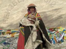 тибетец в традиционном одеянии