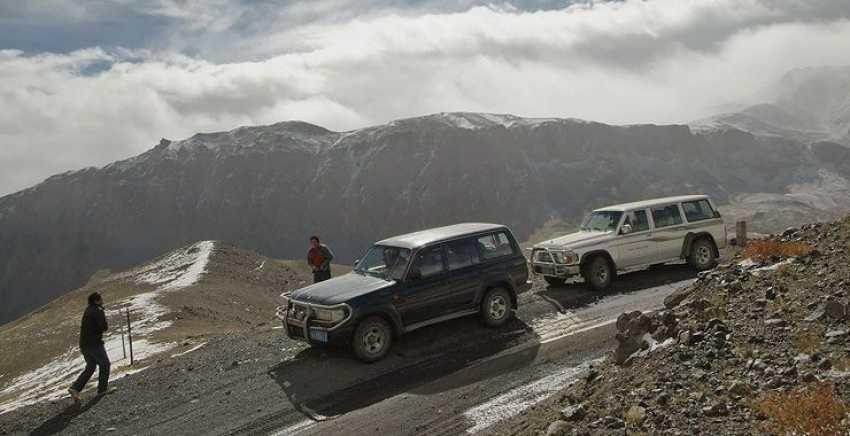 на джипах по Тибету